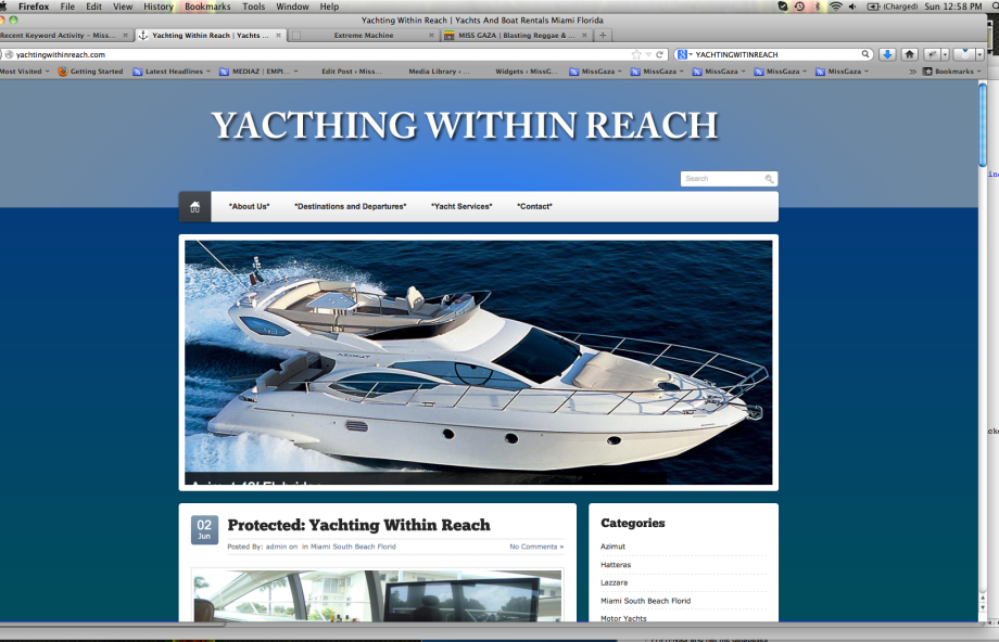 Corporate Identity &  Website For Yachting Within Reach